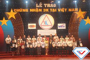 Trao chứng nhận 3K lần thứ nhất tại Việt Nam